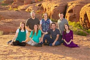 family portrait in st george