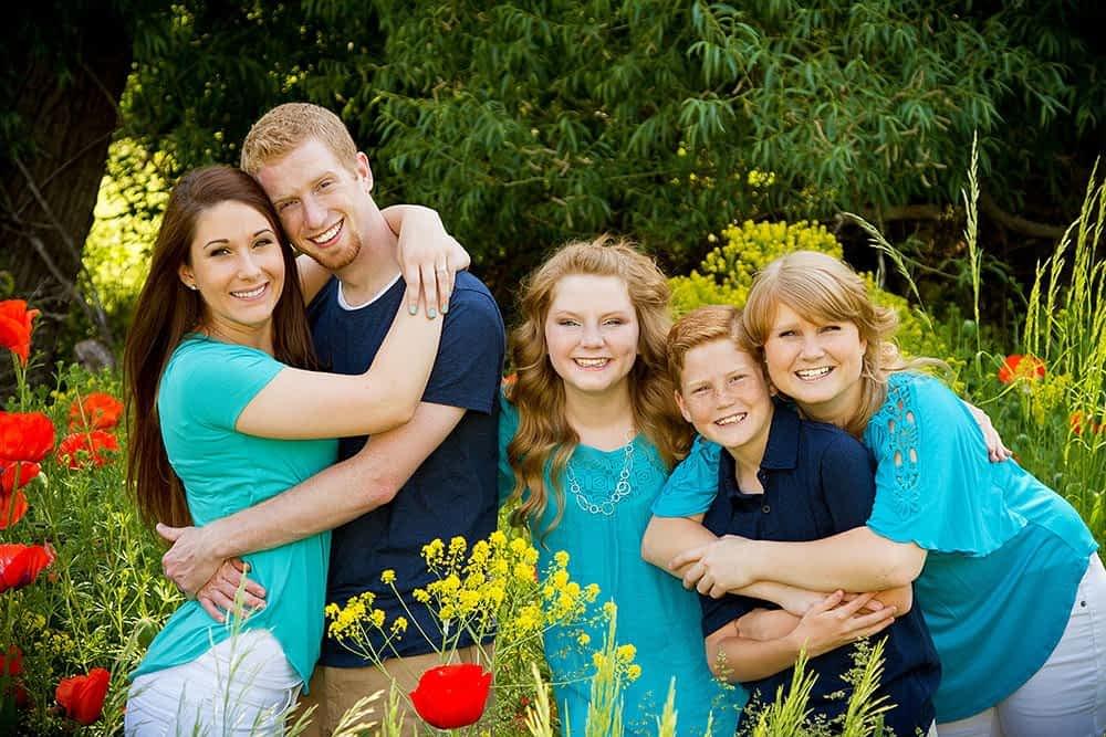 family portrait poppies