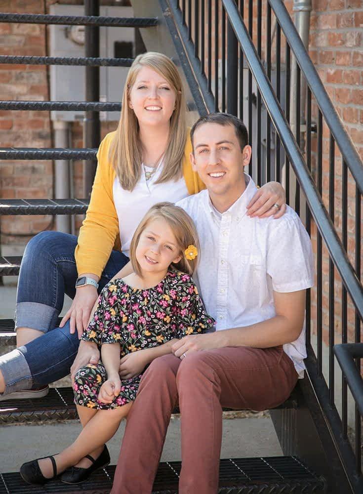 ogden iron stiar with family portrait