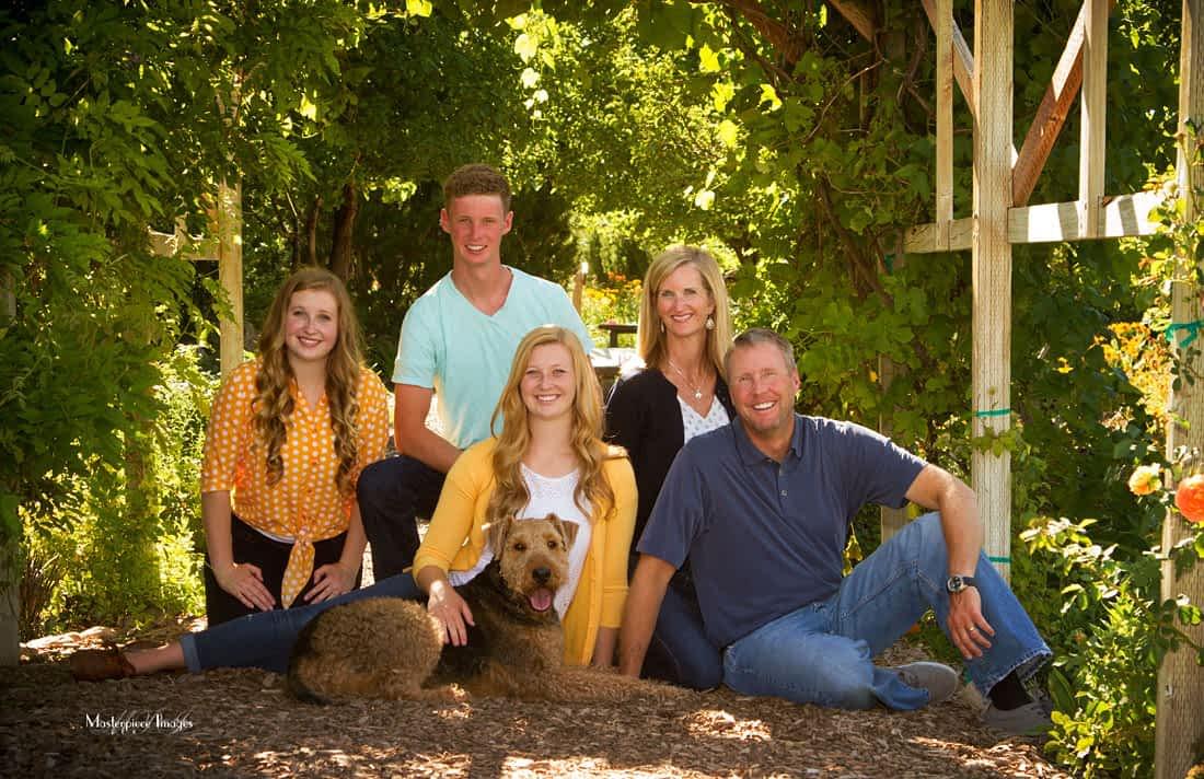 Ogden Botanical Gardens Family Portrait ideas