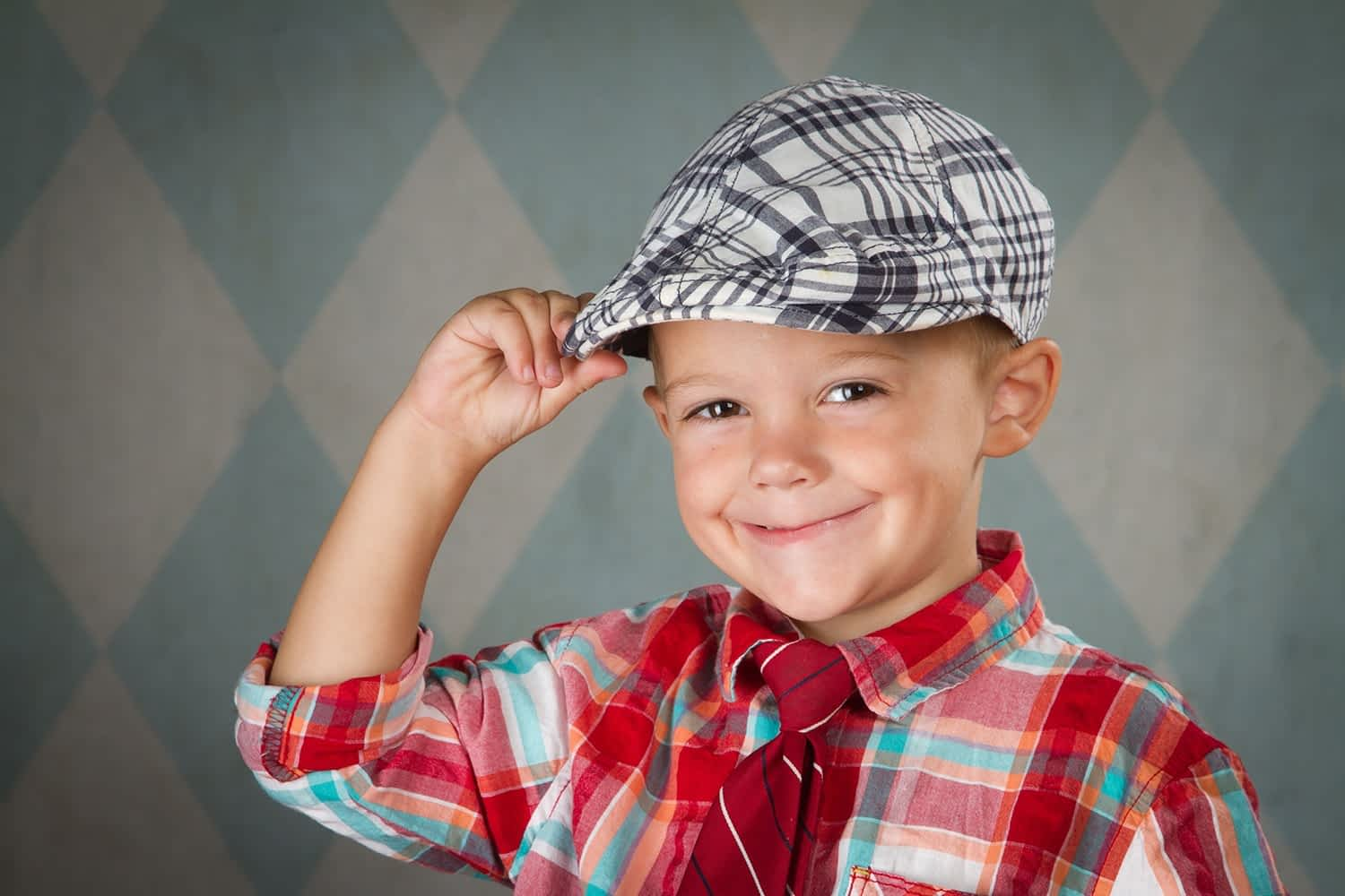 golf hat child portrait